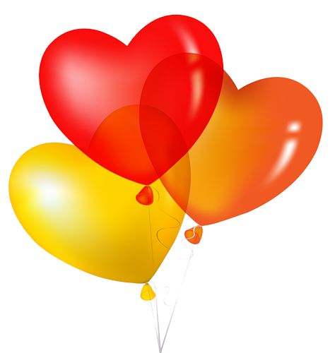 Valentine Balloons Clipart