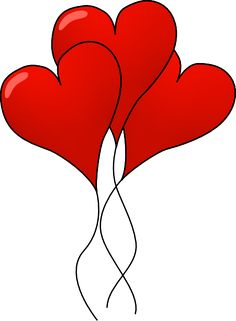 236x321 Heart Balloons Vector Clip Art