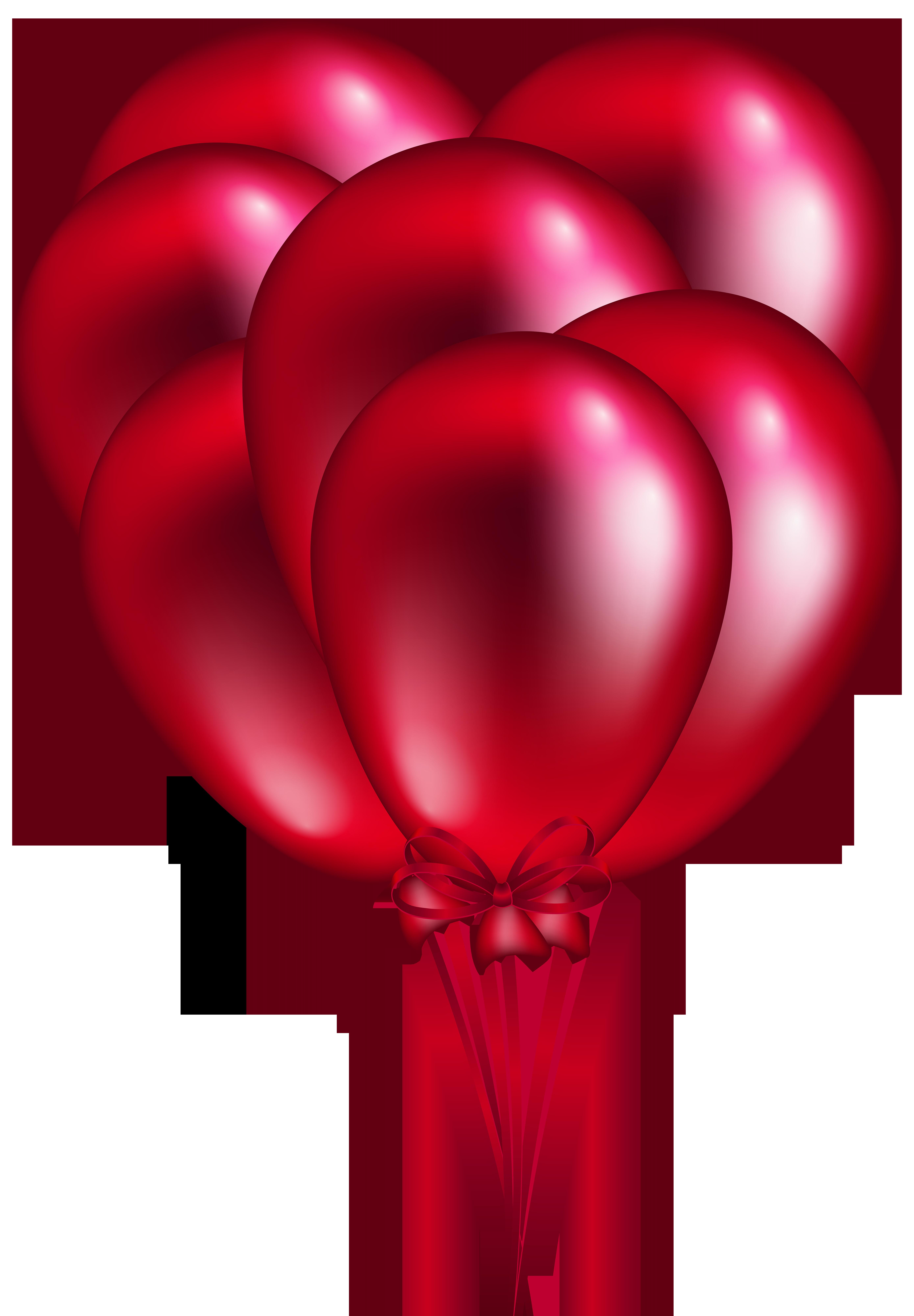 5558x8000 Red Balloon Bunch Png Clip Art