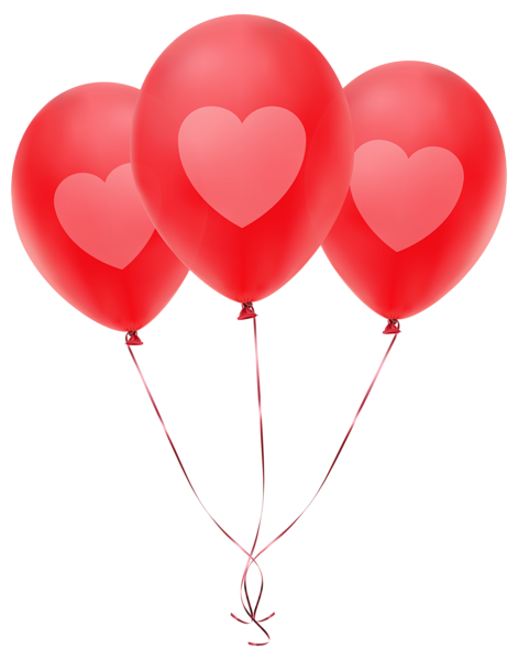471x600 Red Balloons With Heart Transparent Png Clip Art Image Ballons