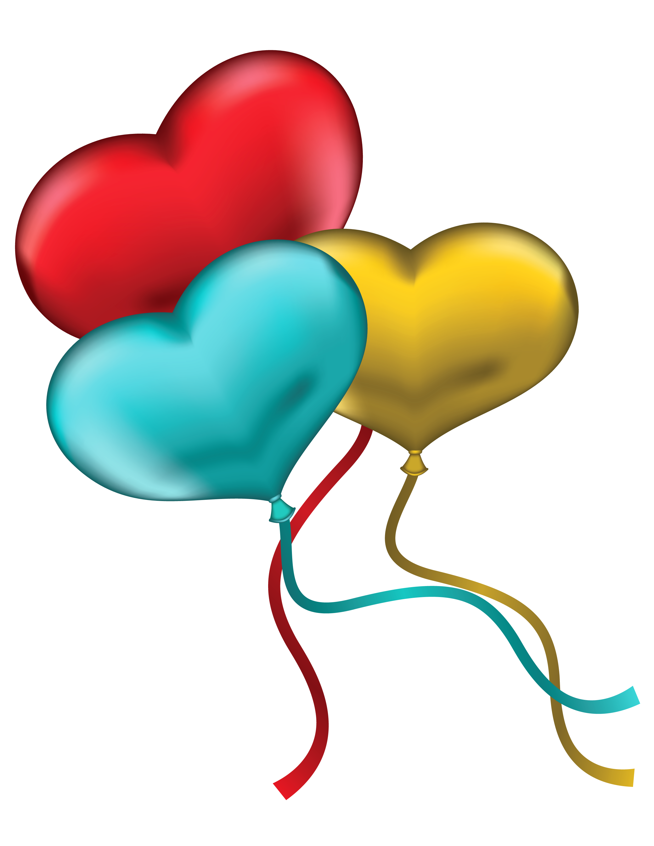 2500x3235 Red Blue And Yellow Heart Balloons Png Clipart Pictureu200b Gallery