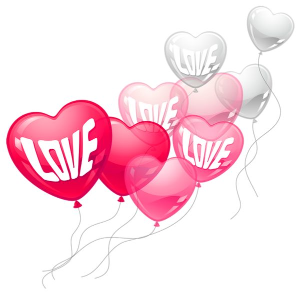600x587 Valentine's Day Clipart Heart Shaped Balloon