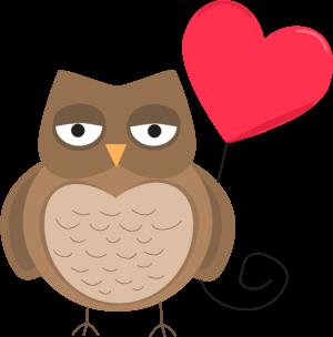 300x304 Valentine Owl Clip Art