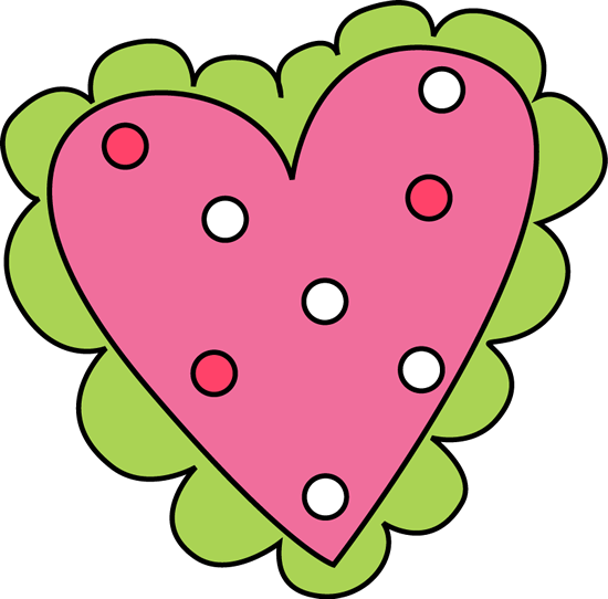 550x542 Pink and Green Valentine#39s Day Heart Clip Art