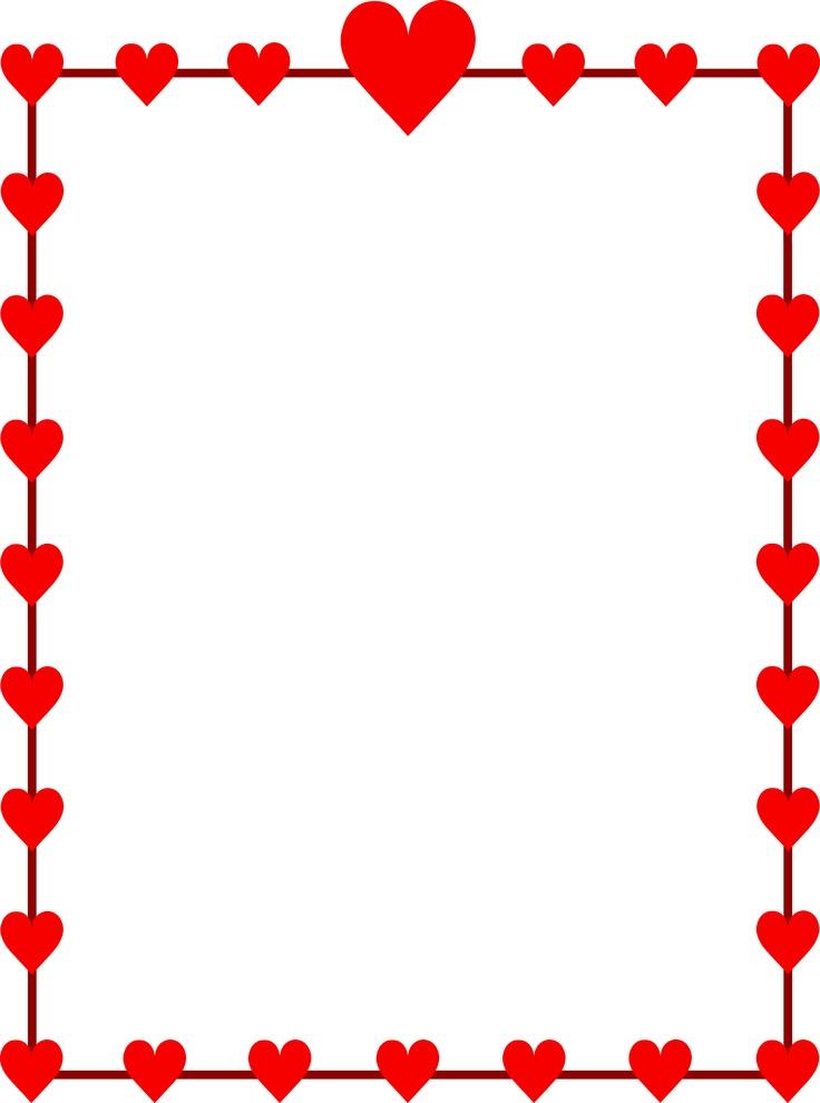 736x990 Free Valentine Day Border Clipart Image