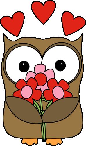296x500 Valentine's Day Owl Clip Art