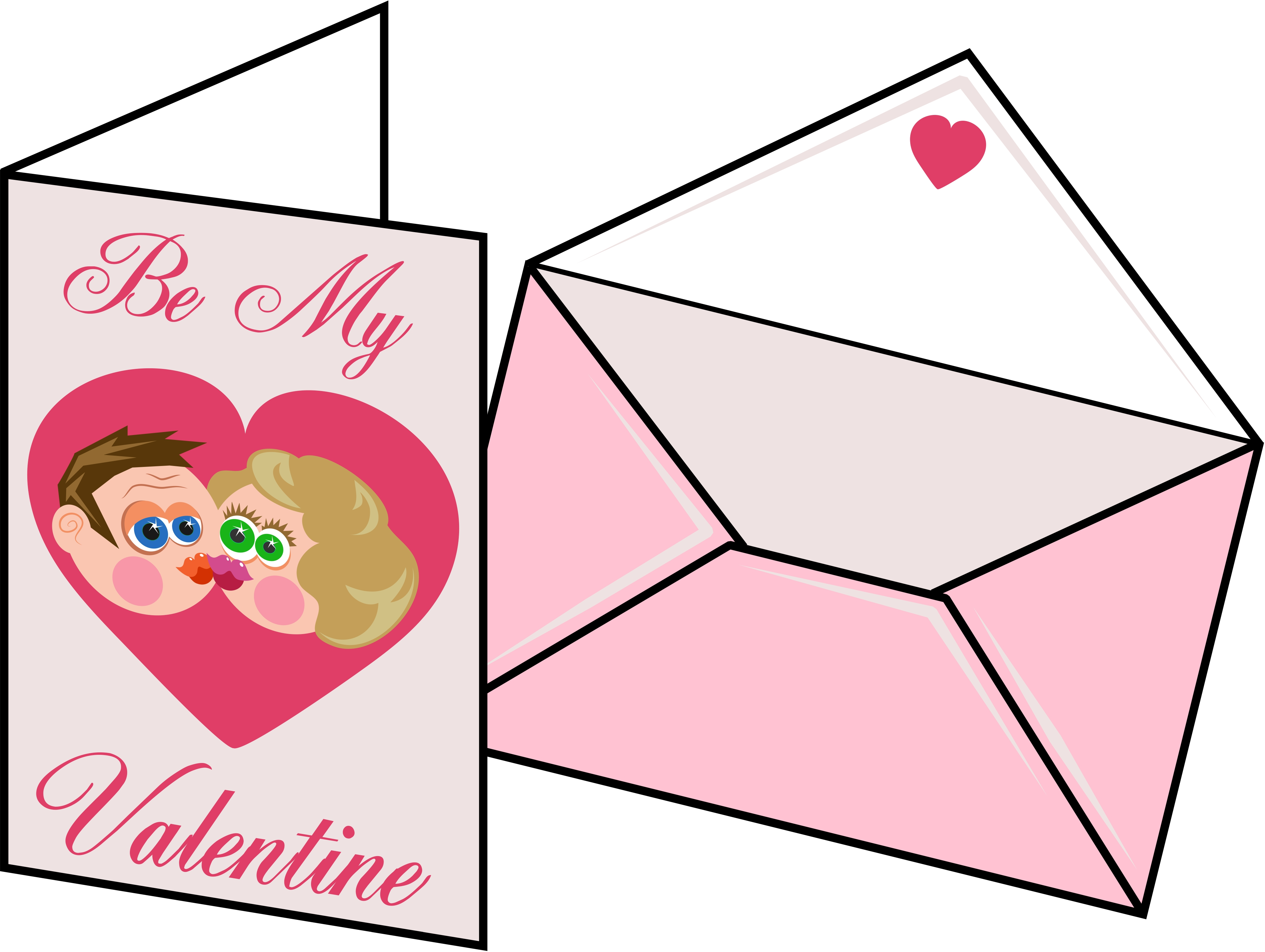 4169x3138 Image of Valentine Card Clipart