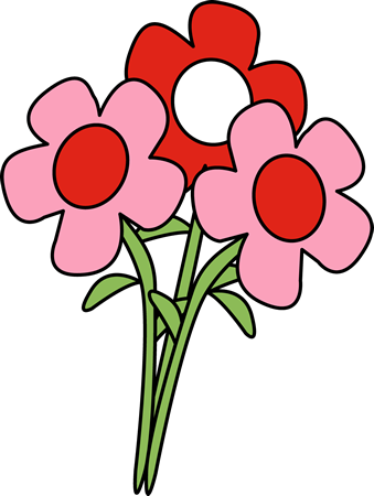 339x450 Pretty Valentine's Day Flowers Clip Art