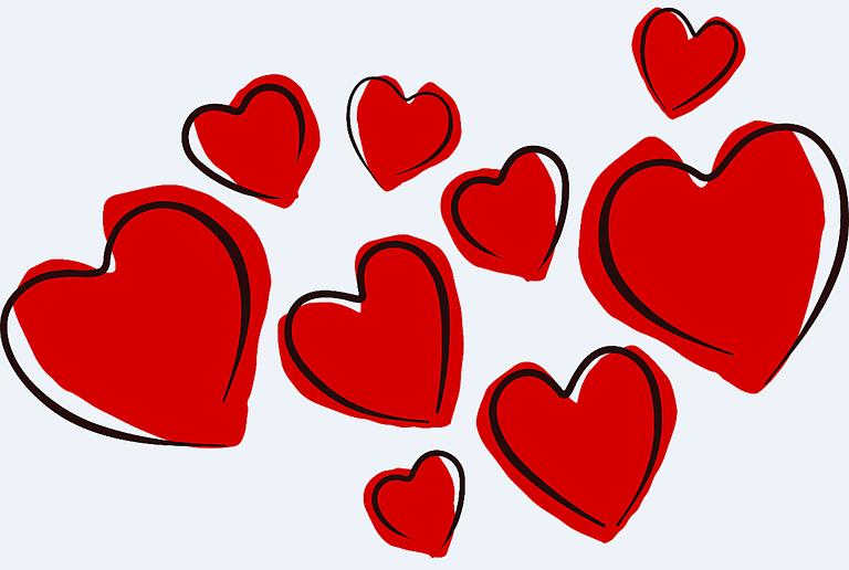 768x516 Valentine Hearts Clip Art Many Interesting Cliparts