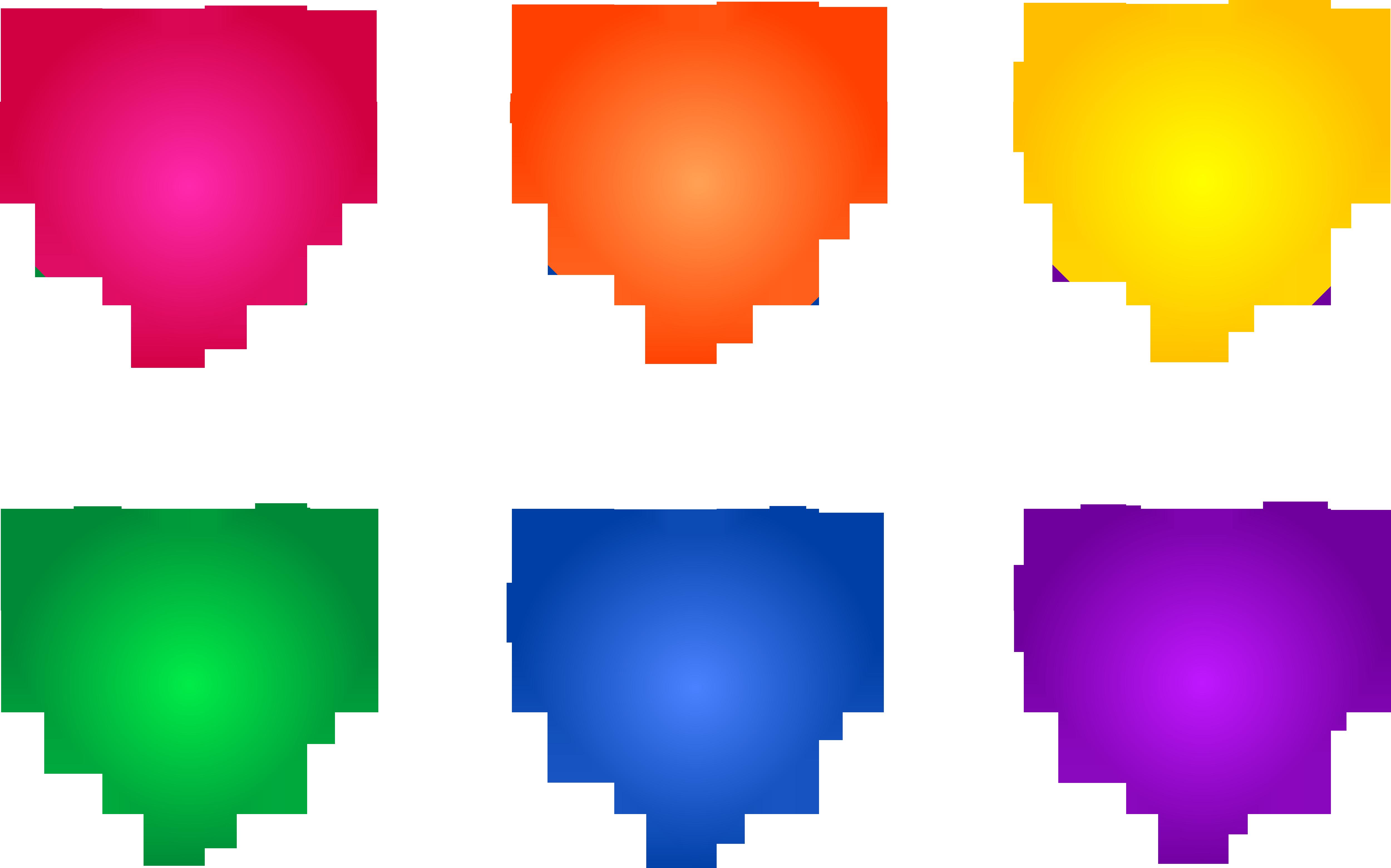 5000x3122 Colorful Rainbow Heart Symbols