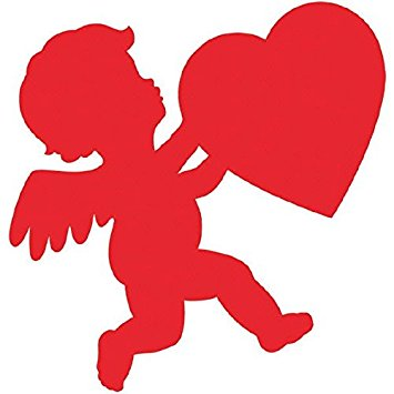 355x355 Blushing Valentine's Day Glossy Cupid Cutout Party
