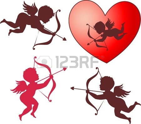 450x395 New Cupid Angel Vector Valentine Card And Wedding Design, Love