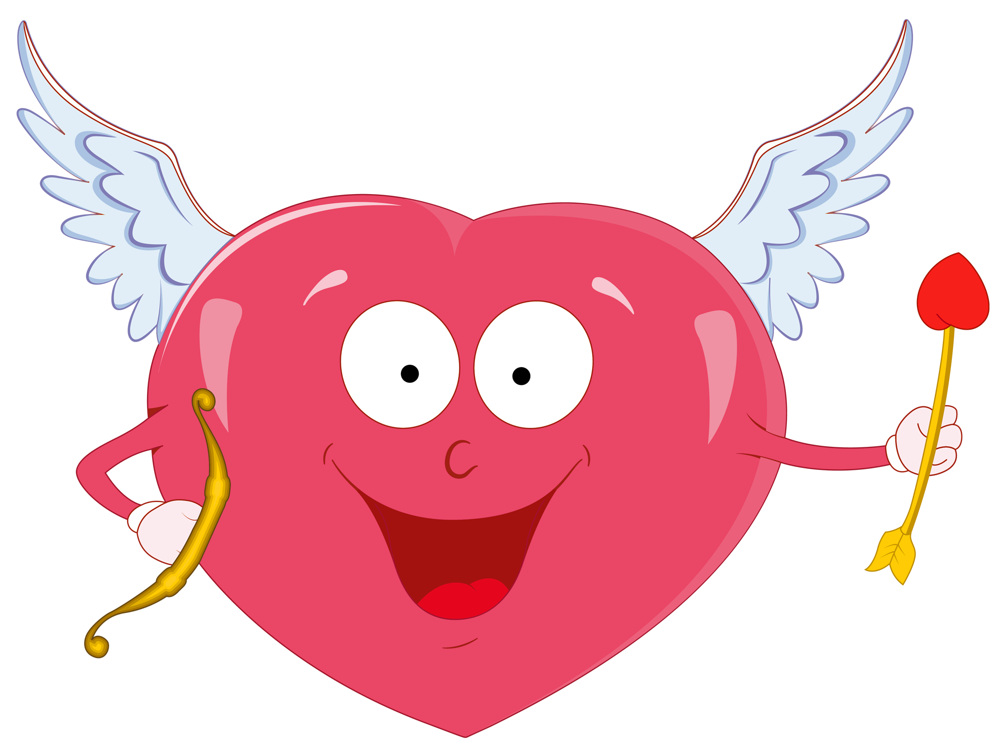 2000x1487 Valentine Heart With Cupid Bow Png Clipartu200b Gallery Yopriceville