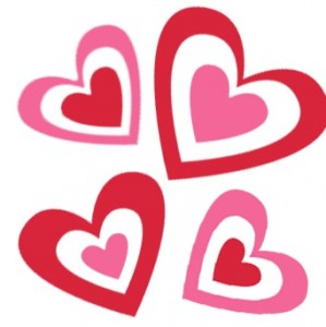 299x300 Hearts Valentines Day Clipart