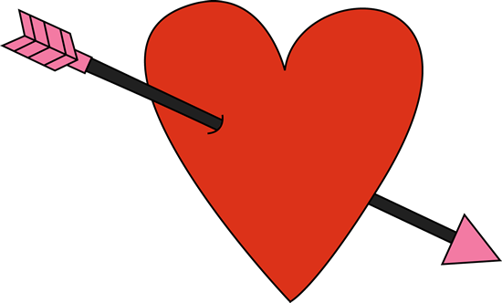 550x332 Red Valentine's Day Heart And Arrow Clip Art