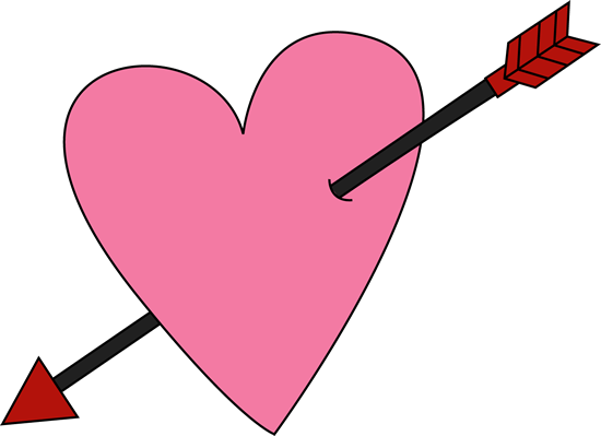 550x399 Valentine's Day Heart And Arrow Clip Art