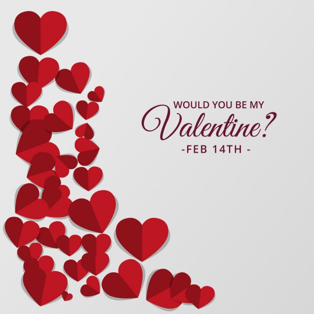 626x626 Valentine Day Background With Cute Hearts In Red Tones Vector