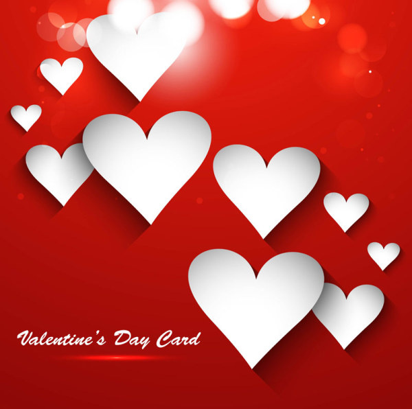 600x596 Valentine Day Heart Shaped Cards Vector Free Vector