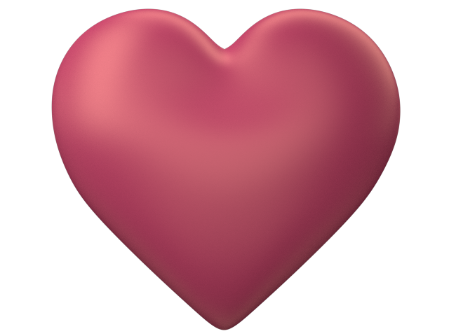 640x480 Peach 3d Love Heart With Transparent Background