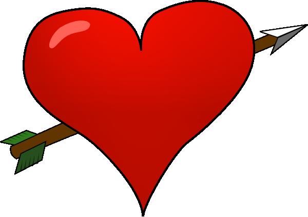 600x423 Valentine Heart Arrow Clip Art