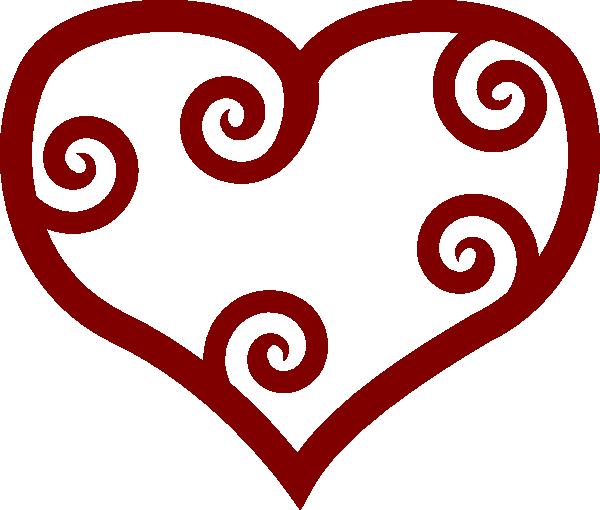 600x510 Valentine Red Maori Heart Clip Art Free Vector 4vector
