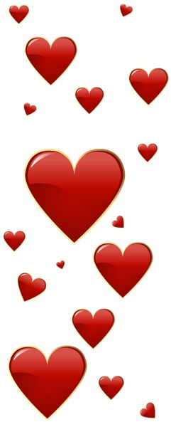 241x600 Red Hearts Clip Art