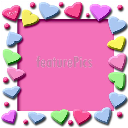 450x450 Valentine Candy Border Clipart