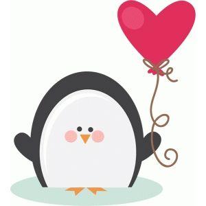 Valentine Penguin Clipart