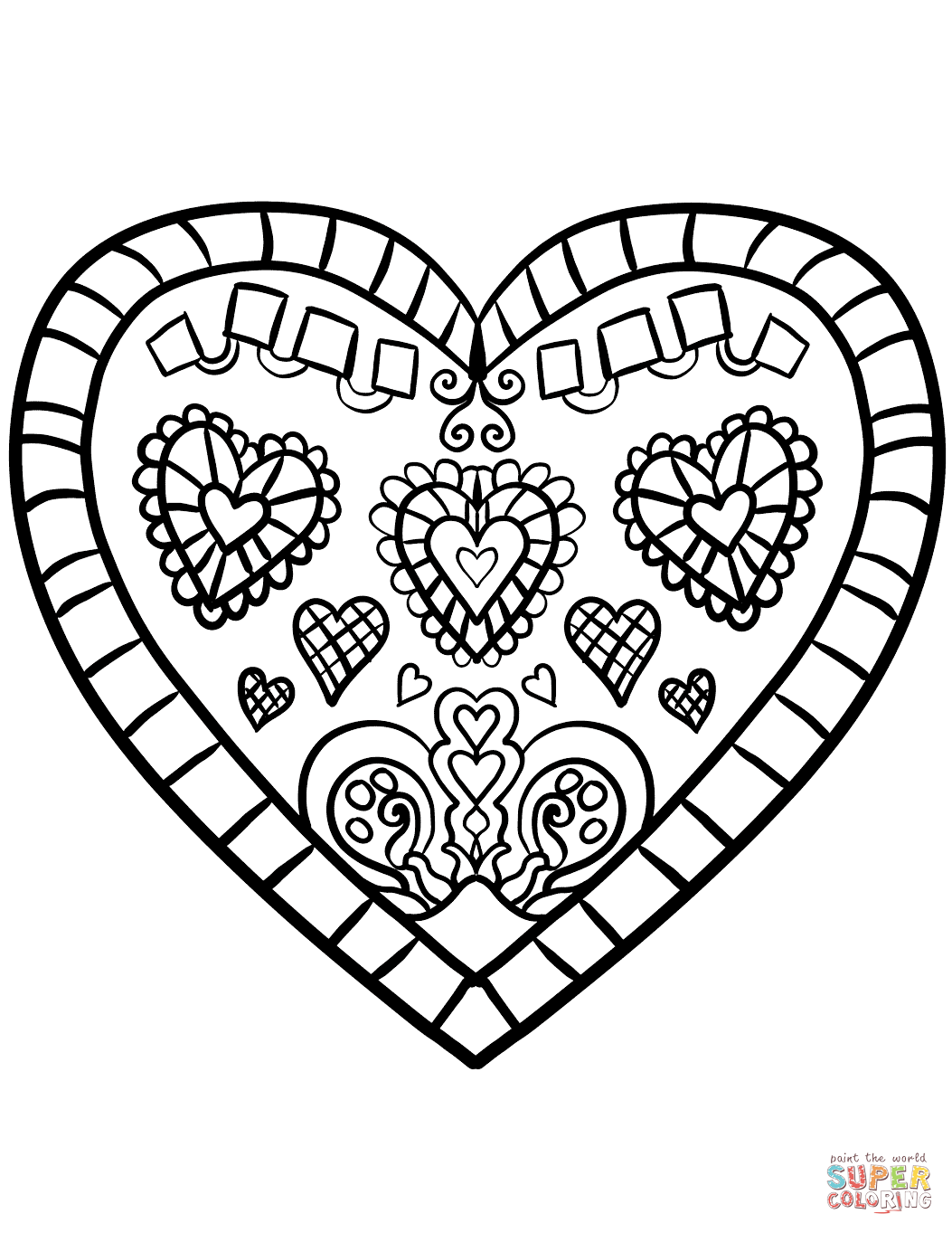 Valentines Coloring Pages   Free download best Valentines Coloring ...