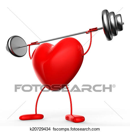 450x455 Drawings Of Fitness Weights Means Valentine Day And Athletic