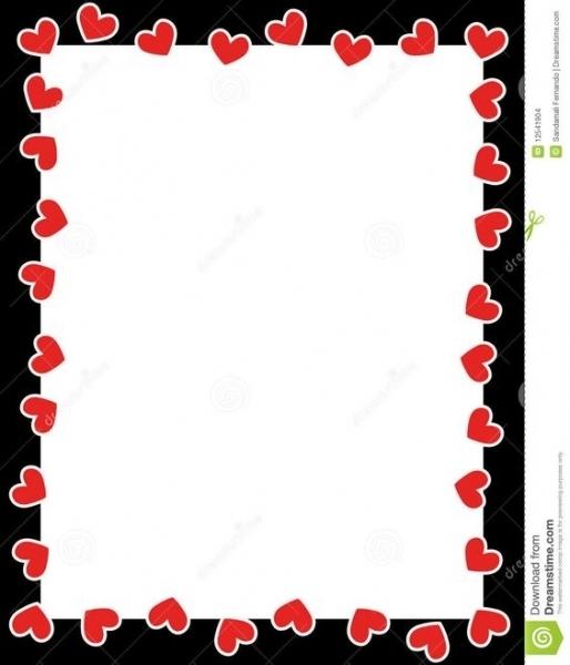 514x600 Valentine's Day Clip Art Borders Designcorner