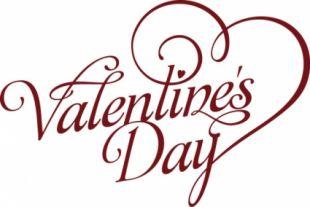 310x207 Valentine's Day Minimalist Red Text Design Free Vectors Ui