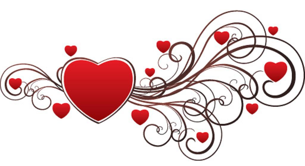 1024x560 Valentine's Day Clipart Sweet Heart
