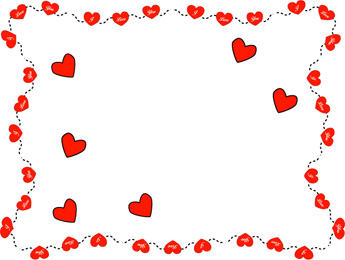 345x260 Valentine Frame Clip Art