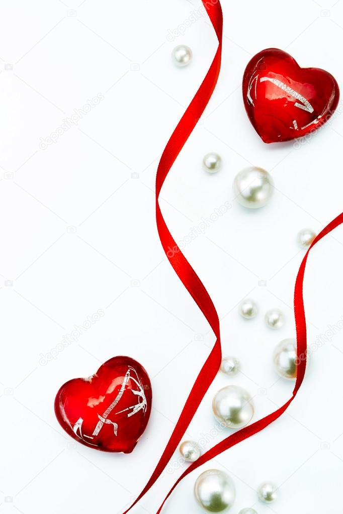 682x1023 Art Design Valentine Day Greeting Card With Red Ribbon And Love