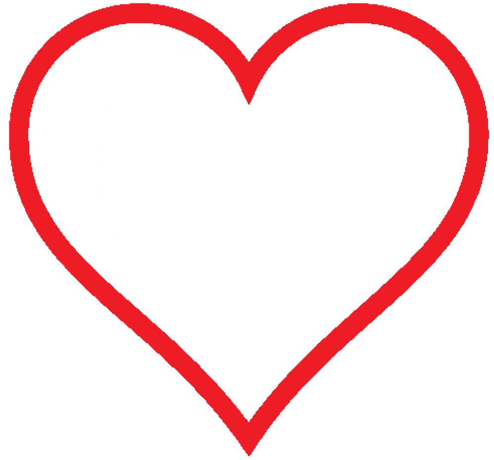 999x930 Clip Art Heart Icon Red Hollow Valentine Svg
