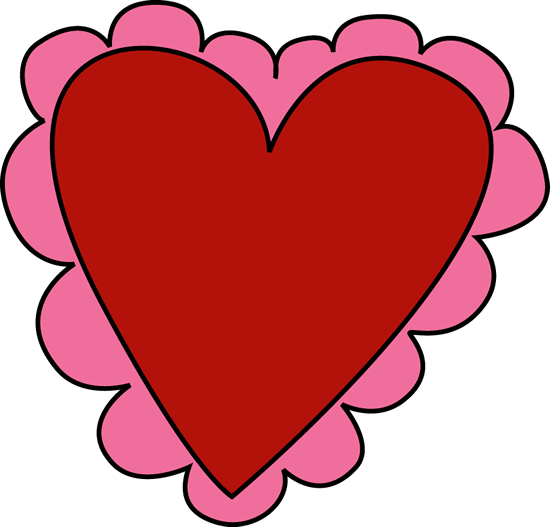 550x527 Pink and Red Valentine#39s Day Heart Clip Art