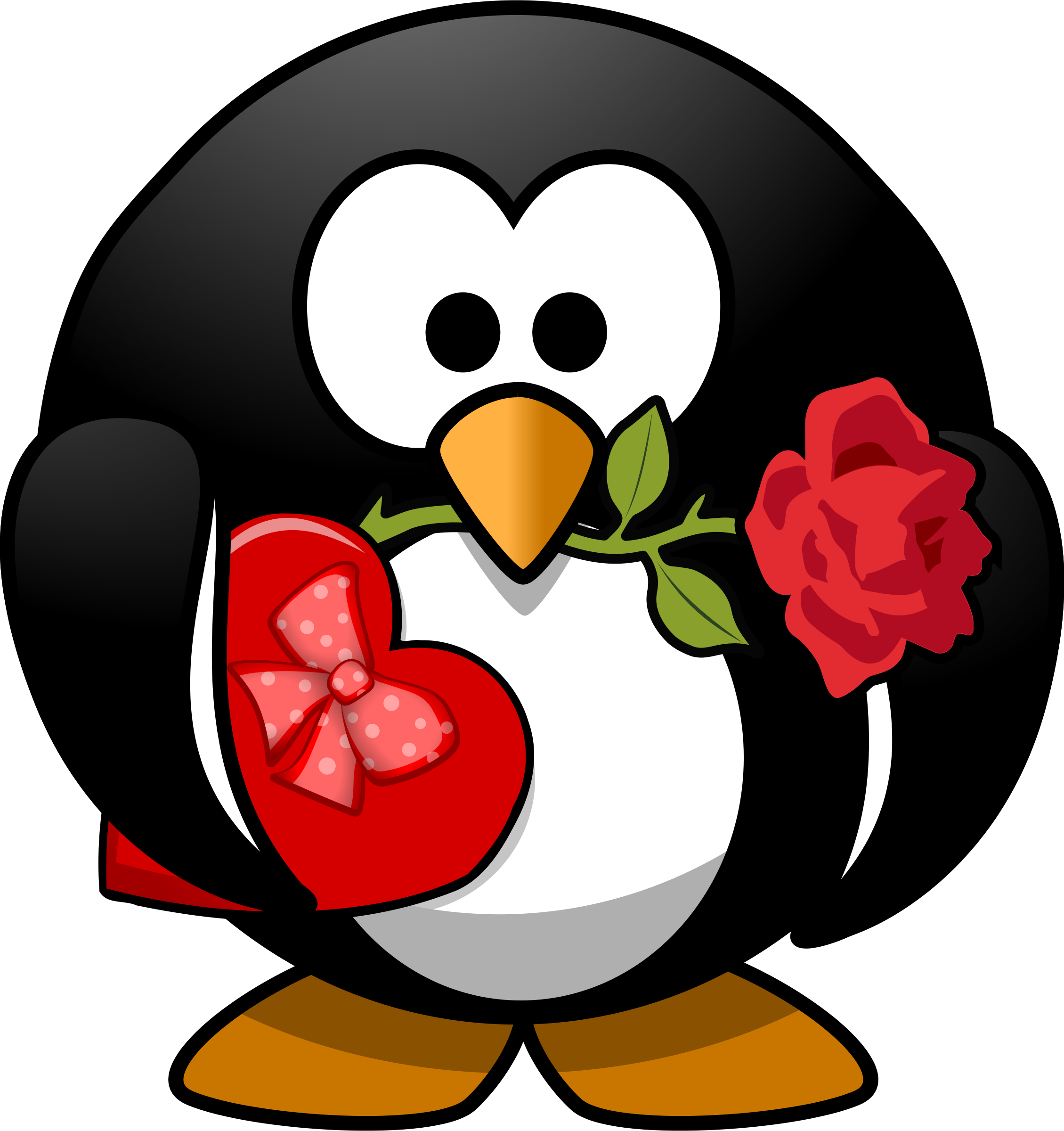 2259x2400 Valentine#39s Day clipart cute penguin