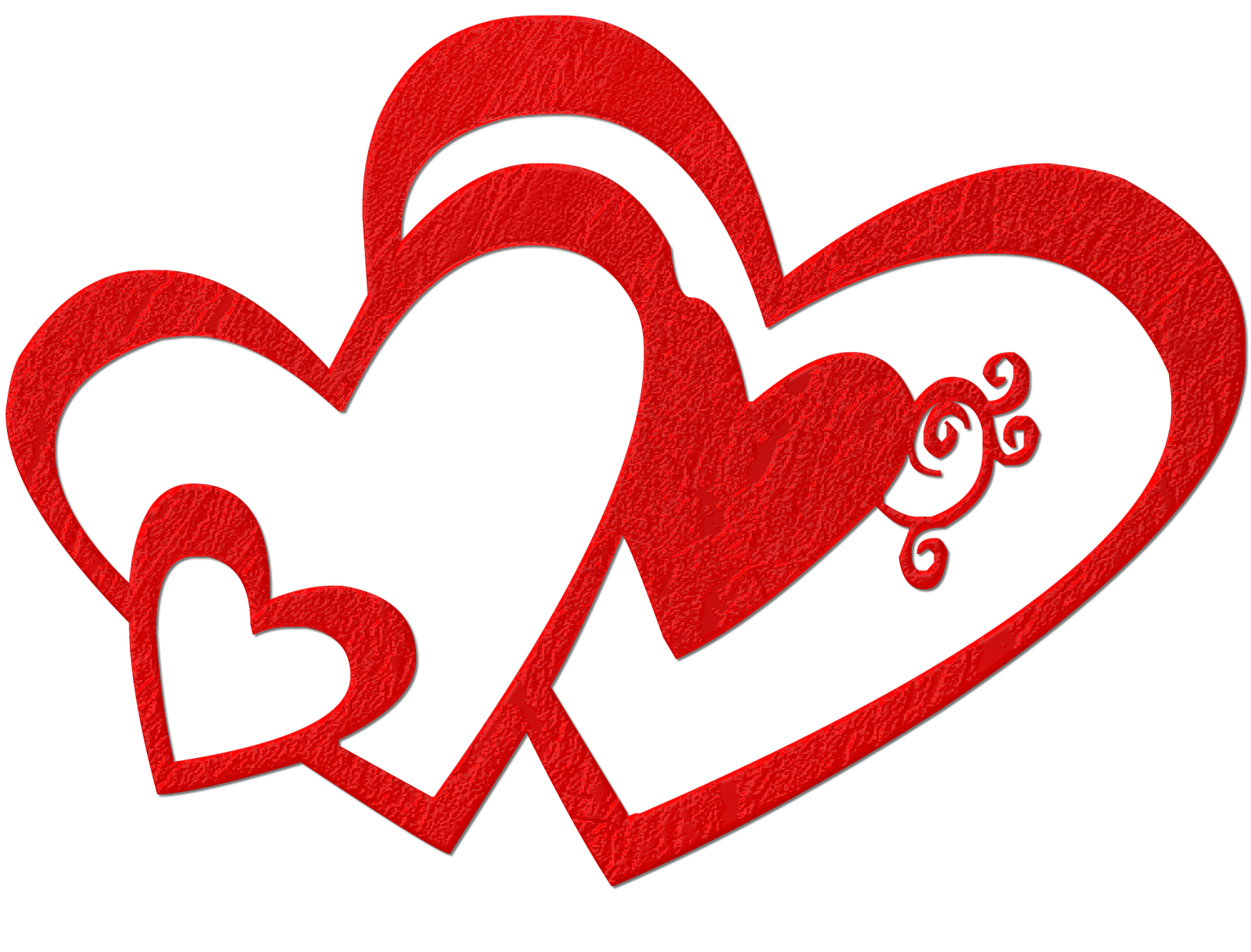 1600x1217 Valentine#39s Day clipart double heart