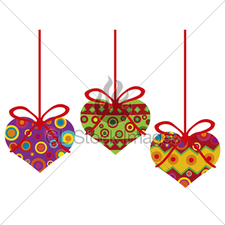 325x325 Colorful Hearts Forming Big Valentines Day Heart Gl Stock Images