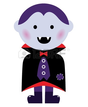 369x450 Child In Vampire Costume. Vector Cartoon Illustration Royalty Free