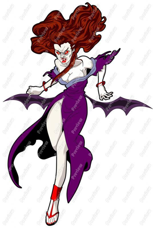 543x800 Female Vampire Clip Art