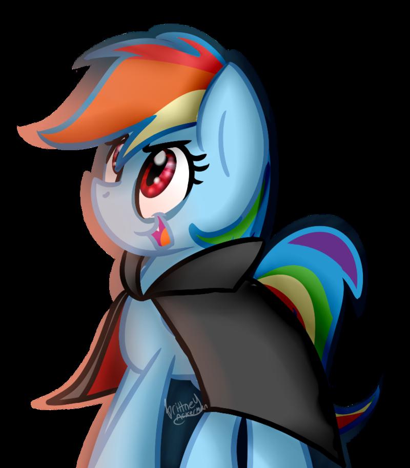 800x913 Rainbow Dash Vampire (Livestream Art