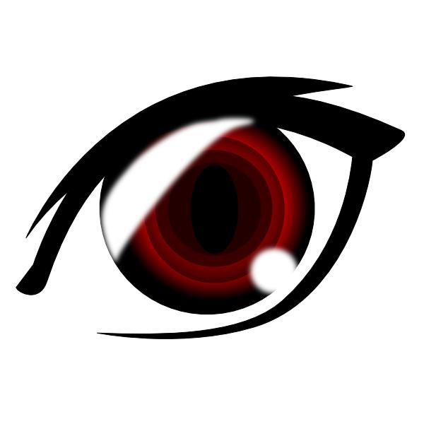600x600 Vampire Anime Eye Clip Art