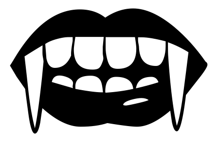448x297 Vampire Fangs Clip Art Download
