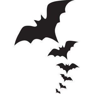 300x300 Bat Black And White Vampire Bat Clipart