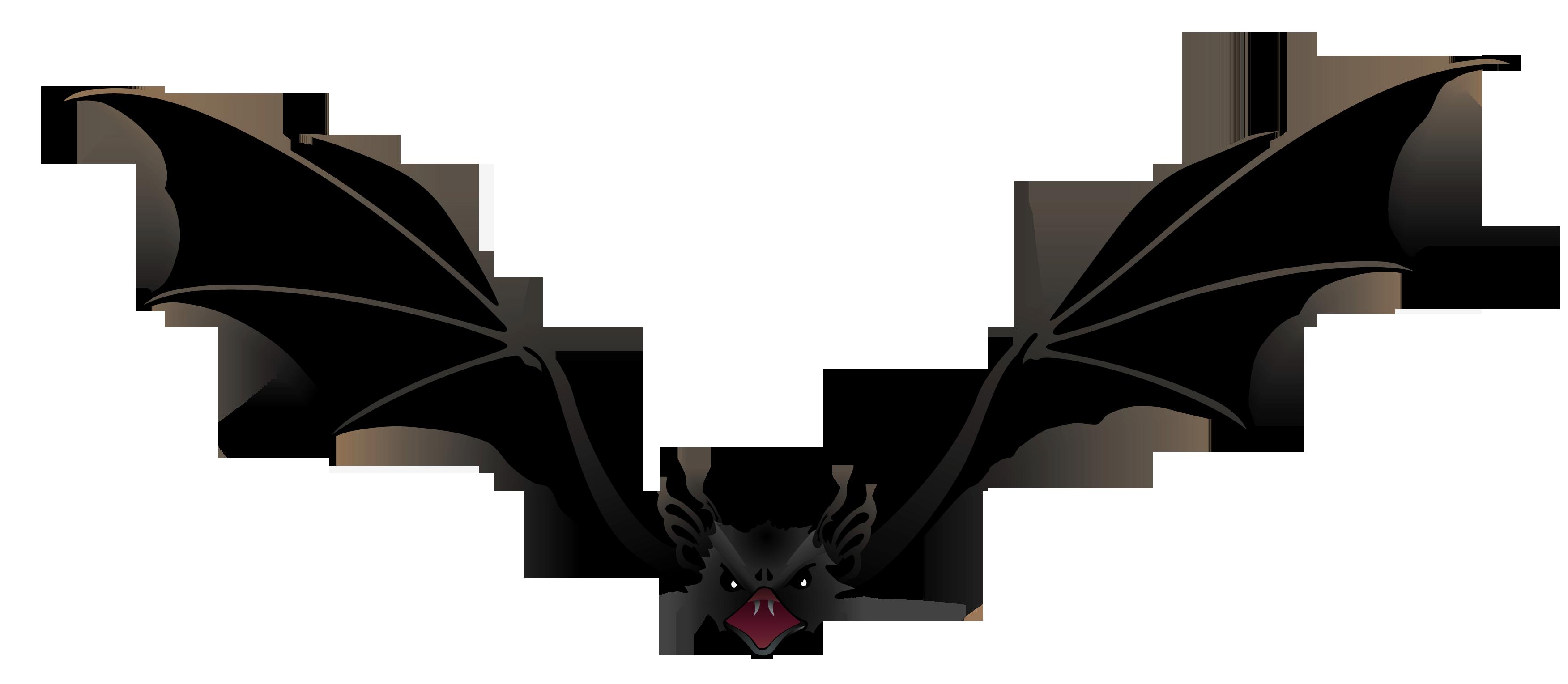 3504x1529 Bat Clipart Creepy