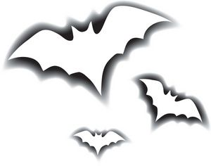 300x236 Creepy Clipart Vampire Bat