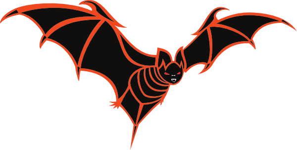 600x303 Creepy Clipart Vampire Bat