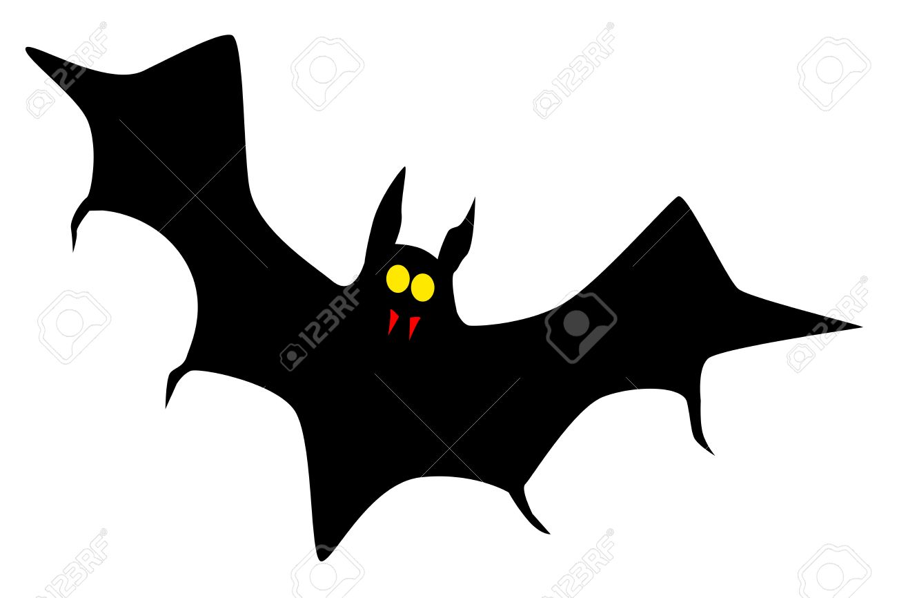 1300x866 A Vampire Bat In Silhouette Royalty Free Cliparts, Vectors,